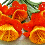 Фото 13: Цветы крючком