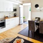 Фото 24: Кухня, совмещённая со столовой