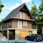 Фото 9: Проект дома с гаражом и мансардой (10)