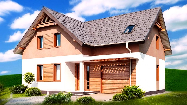 Проект дома с гаражом и мансардой (4)