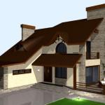 Фото 6: Проект дома с гаражом и мансардой (7)
