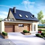 Фото 7: Проект дома с гаражом и мансардой (8)