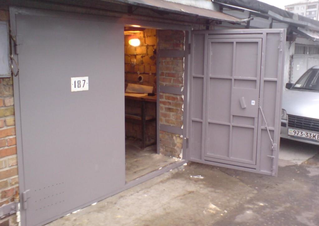 Самодельные ворота для гаража