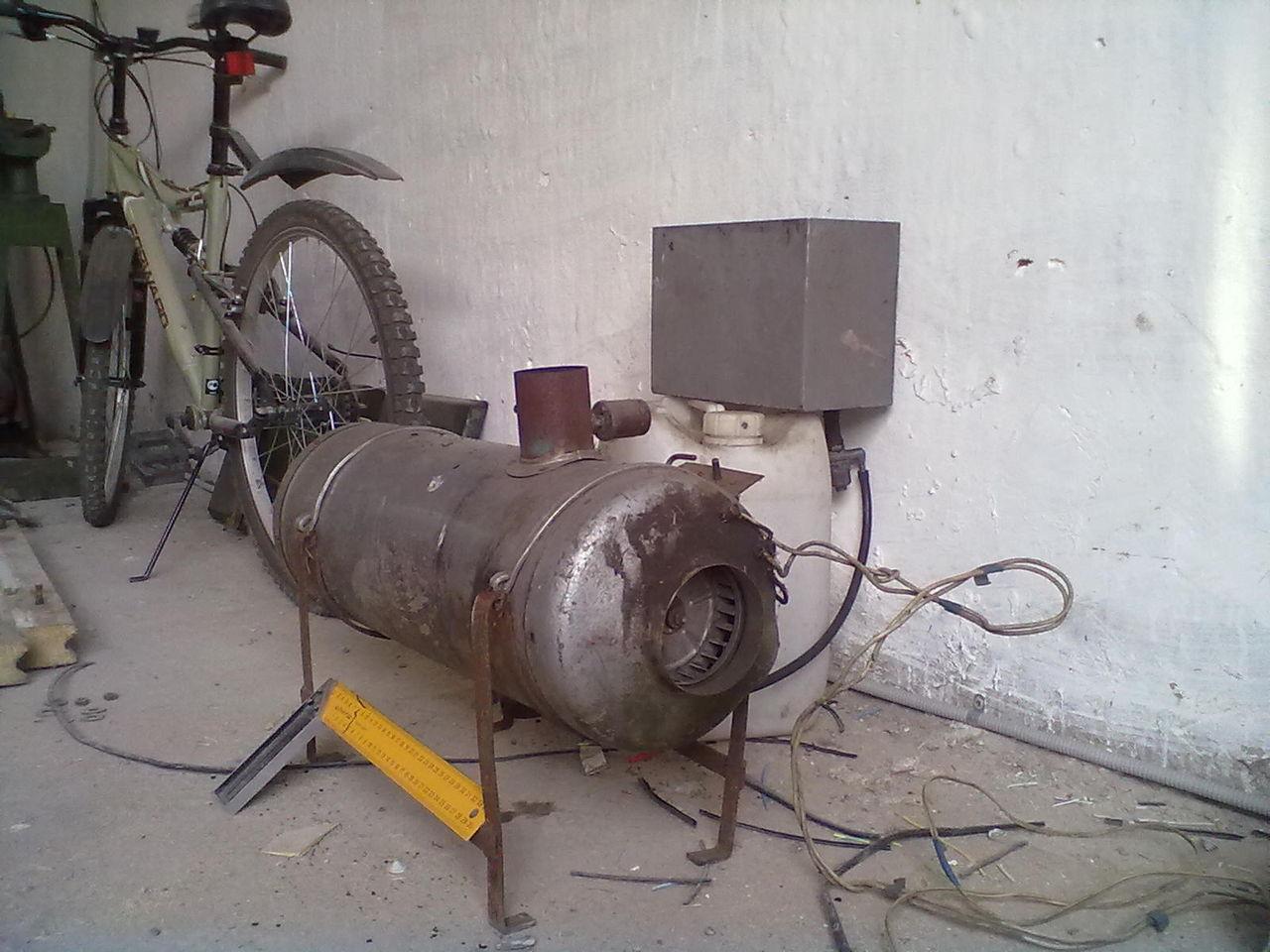 Печь в гараж своими руками с газового