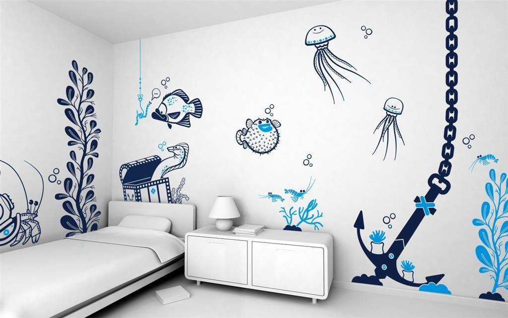 мужчины решаются как нарисовать картинки на стене красивые