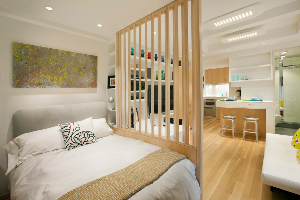 Удобная перегородка для зонирования комнаты