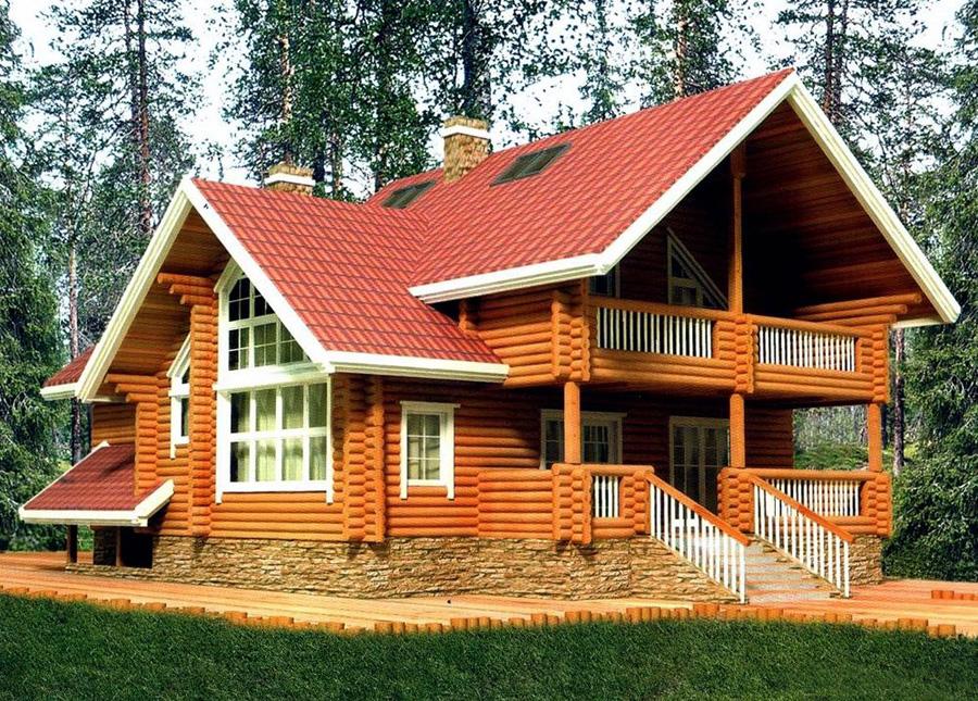 Уютный дом из дерева