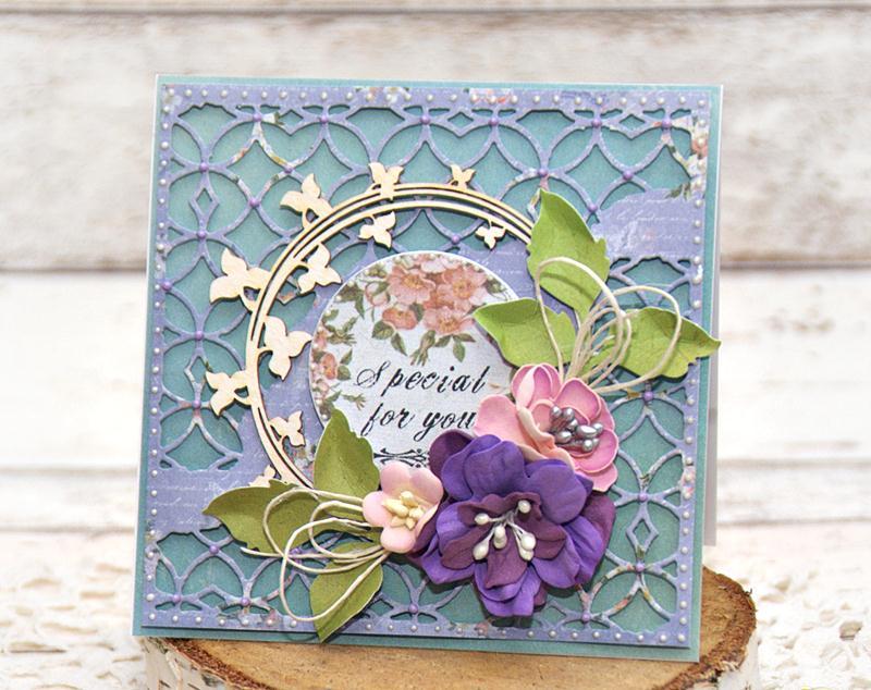 Открытка с цветами из фоамирана