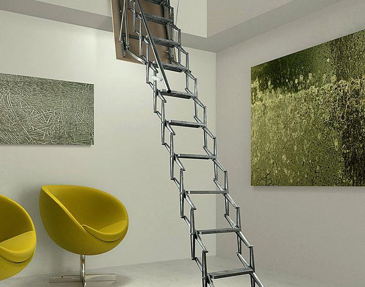 Удобство раздвижной лестницы для чердака