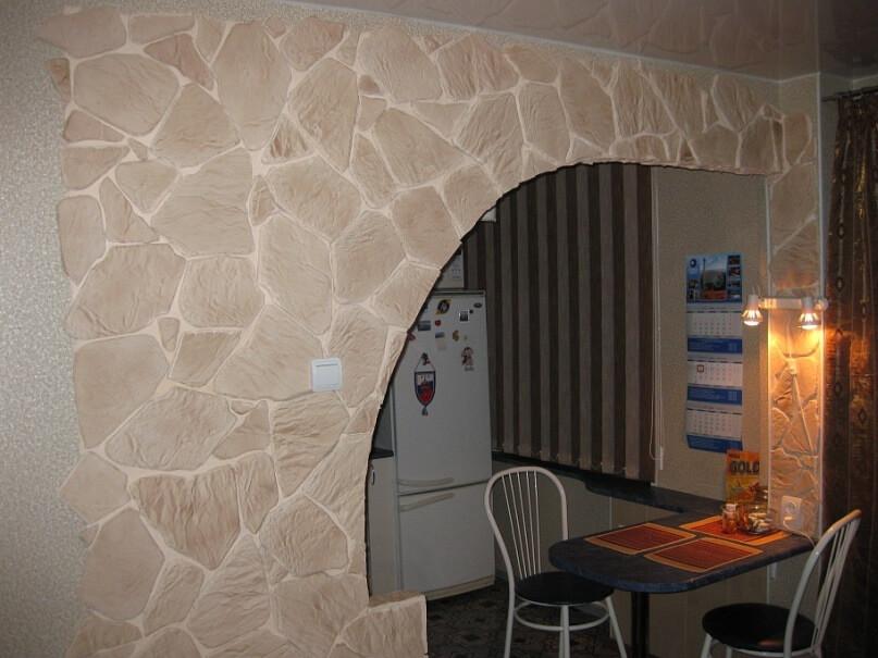 Фото арок из гипсокартона на кухню