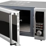 Фото 29: Микроволновая печь с открытой дверцей