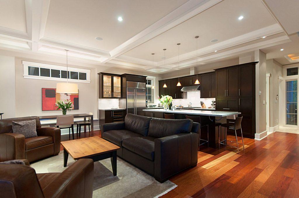 Кухня-гостиная в едином стиле