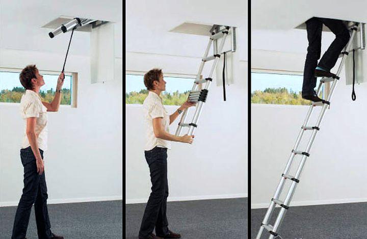 Телескопический механизм лестницы