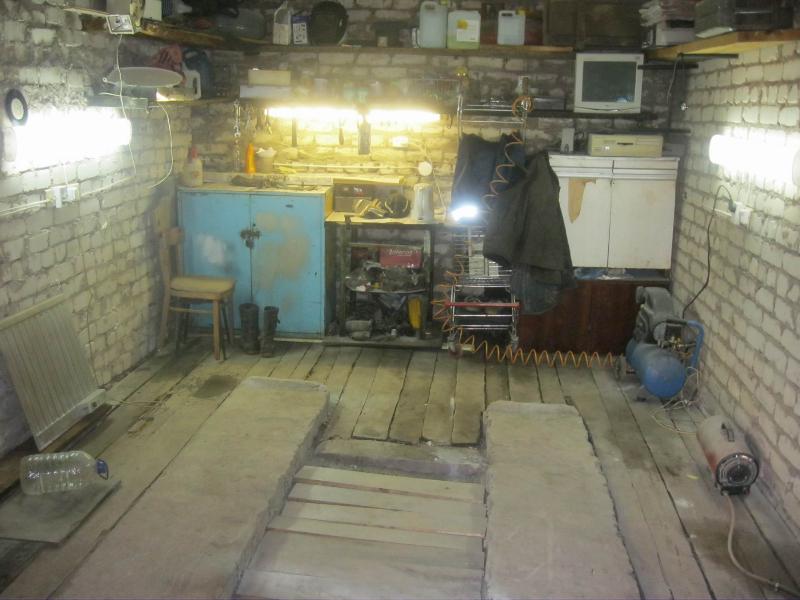 Пол гаража