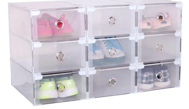 Удобные прозрачные пластиковые ящики
