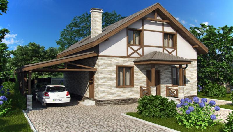 Проект дома 8 на 8 метров с мансардой