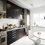 Фото 62: Черно-белая кухня
