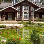 Фото 46: Деревянный дом и ландшафтный дизайн