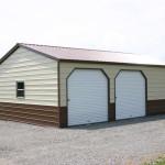Фото 13: Двухцветный металлический гараж