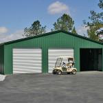 Фото 32: Зеленый металлический гараж на три машины