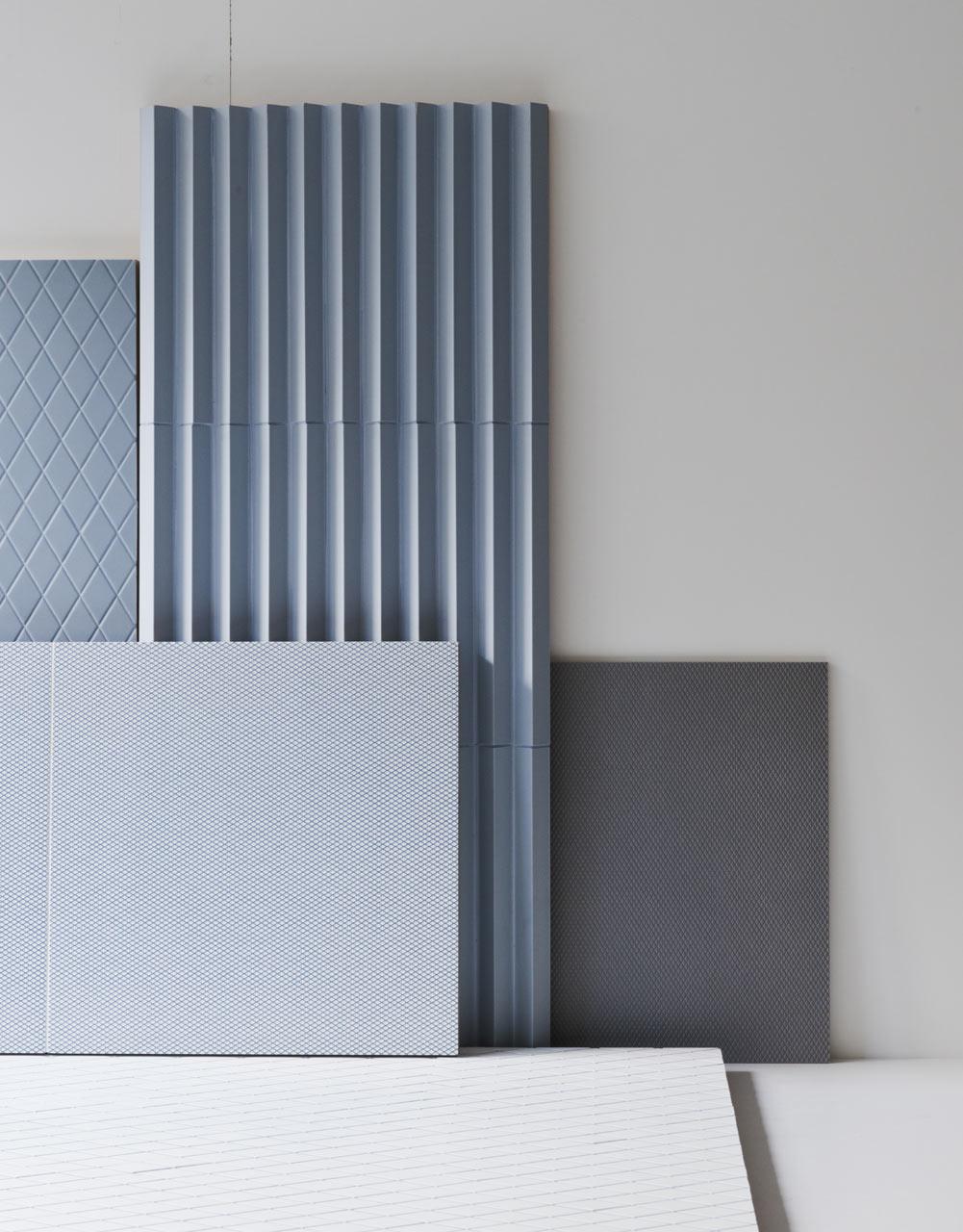 Три варианта стильной облицовочной плитки от Ronan & Erwan Bouroullec, для Mutina