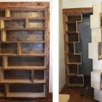 Фото 27: Двери в виде полок шкафа