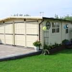 Фото 29: Белый деревянный гараж