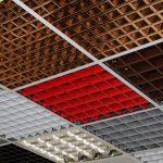 Фото 35: Цветной потолок грильято