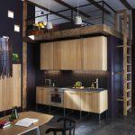 Фото 66: Деревянная стенка-кухонный гарнитур
