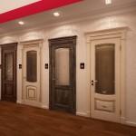 Фото 7: Двери из дуба со стеклянными вставками