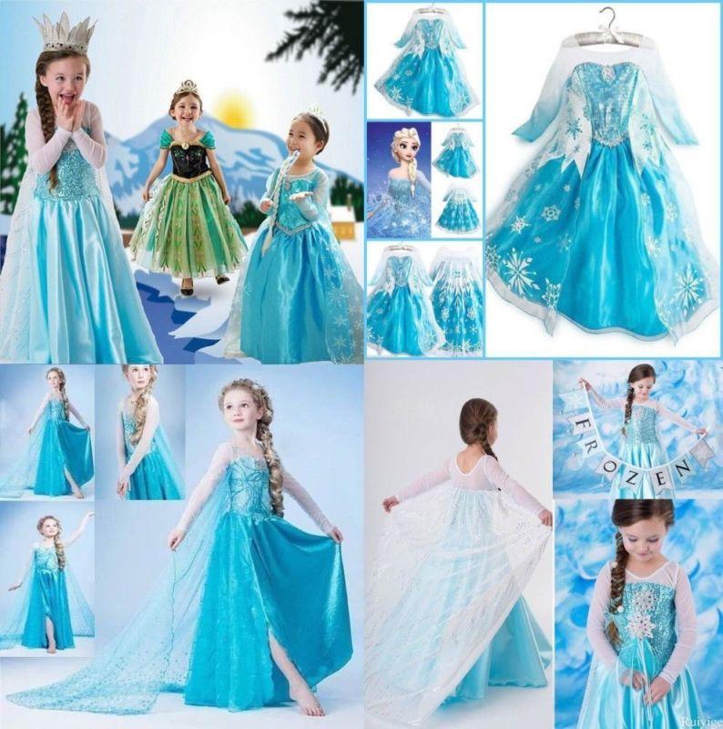 новогодний костюм Эльзы для девочек
