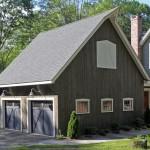 Фото 21: Деревянный гараж на две машины с мансардой