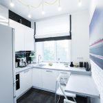 Фото 71: Кухонный гарнитур у окна
