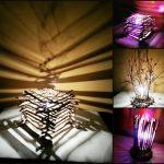 Фото 42: Настольные лампы из веток