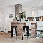 Фото 86: Кухня-гостиная в скандинавском стиле