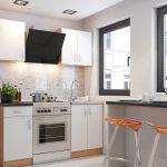 Фото 33: Светлый кухонный гарнитур-стенка