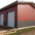 Фото 20: Металлический гараж с ломаной крышей