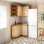 Фото 81: Очень компактная угловая кухня