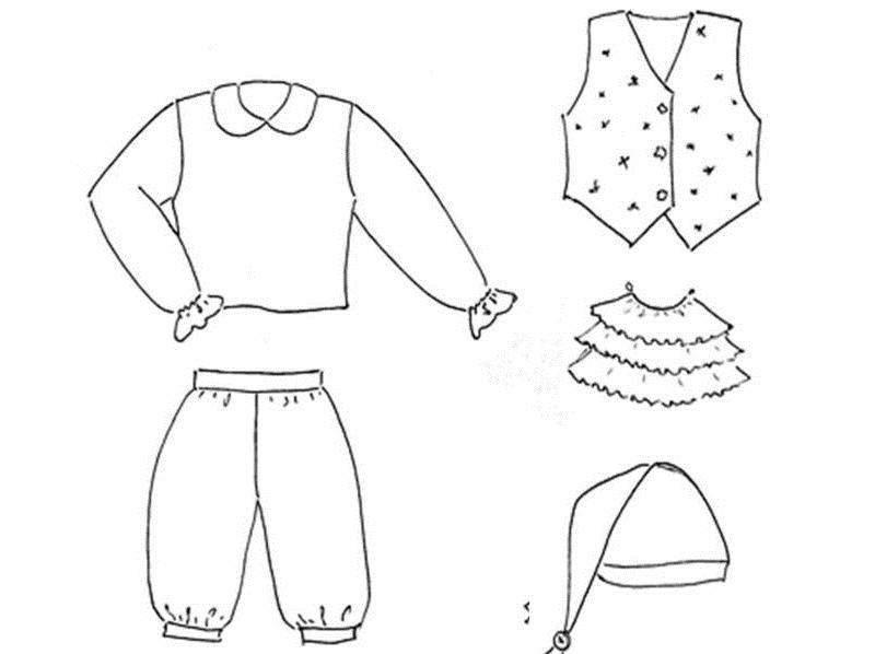 Основные элементы костюма гномика на Новый Год
