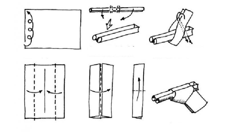 Пистолет для костюма ковбоя из бумаги
