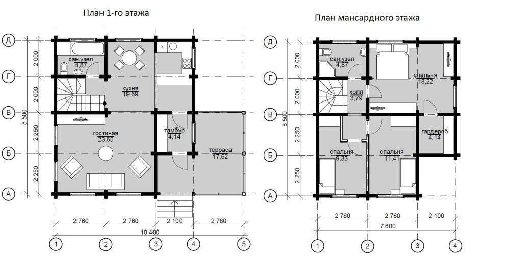Фото 12: План дома 8.5x7.6