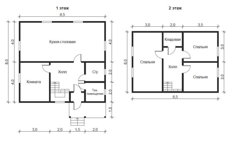 Фото 17: План дома 8x8.5