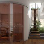 Фото 63: Полукруглые раздвижные двери