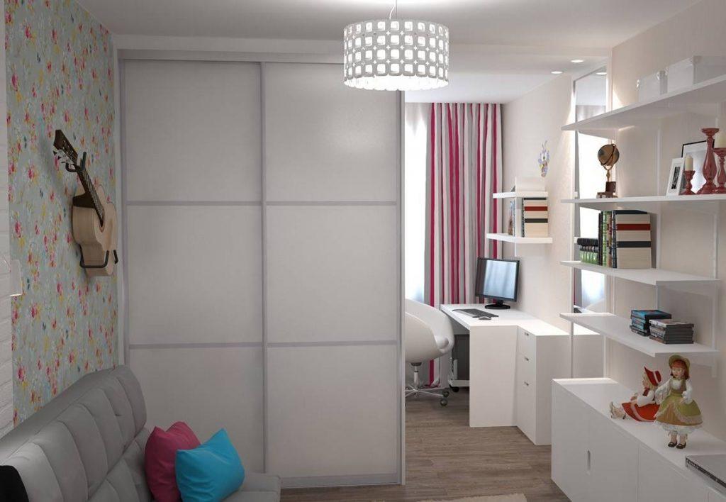 Шкаф-купе для зонирования комнаты