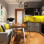Фото 52: Современная угловая кухня с обеденной группой
