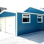 Фото 29: Стальной голубой гараж
