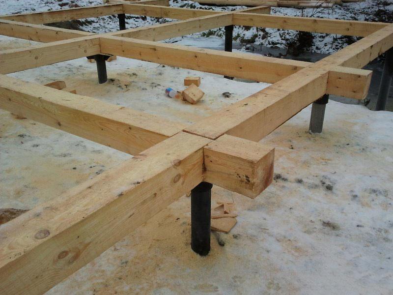 Свайный фундамент для деревянного дома