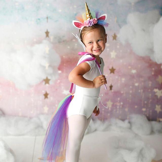 Новогодний костюм единорога для девочки