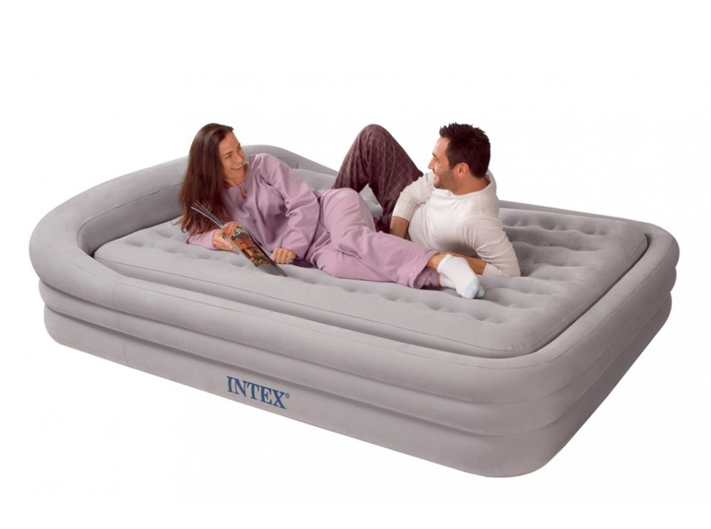 Надувная кровать intex с насосом