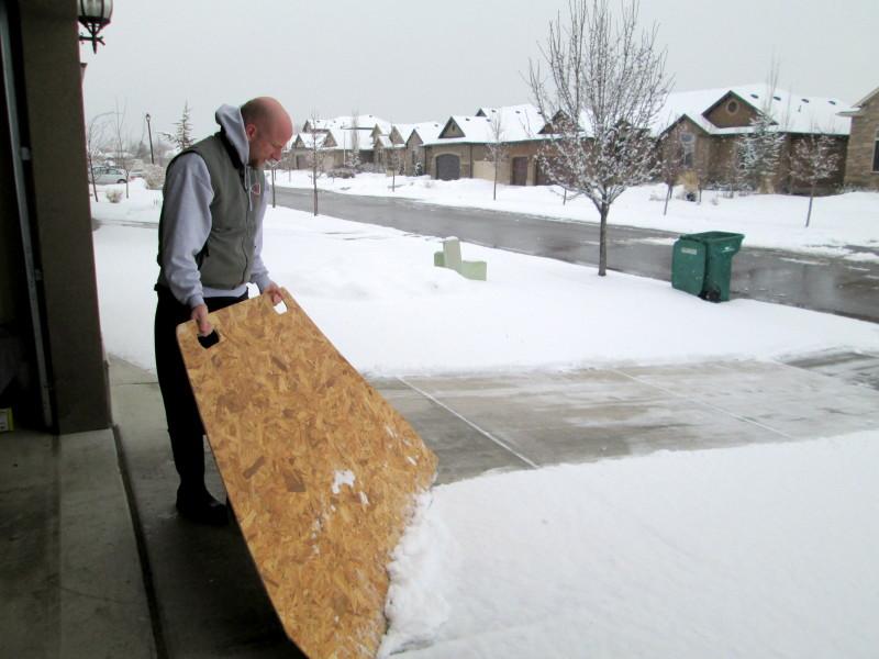 Фото 11: Большая снегоочистительная панель